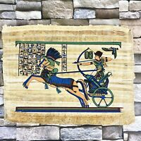 "Pharaoh King Thutmose The Battle of Megiddo Hand Painted Papyrus 12"" X16"""