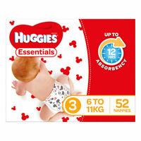 NEW Huggies Essential Stage 3 Crawler - 52 Pack