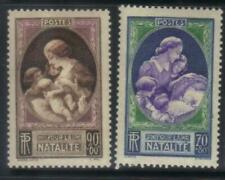 FRANCE 1939 BIRTH RATE DEVELOPMENT FUND MH SET OF 2