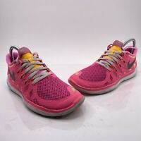 Nike Free 5.0 Youth Size 7Y Pink White Athletic Running Shoes 644446-600