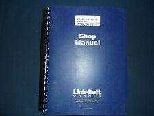 LINK BELT RTC-8030 II CRANE SERVICE SHOP REPAIR MANUAL BOOK