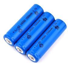 3 x Lithium Ionen Akku 3,7 V / 1500 mAh Typ 14500 Li ion Größe 50 x 14 mm wie AA