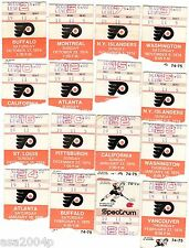LOT (31) 1974-1975 STANLEY CUP CHAMPS PHIL FLYERS TICKET STUBS  BROAD ST BULLIES