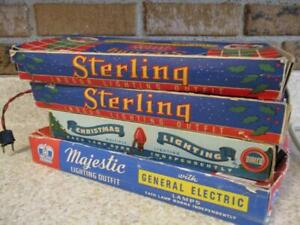 (4)Boxes Vtg/Antique CHRISTMAS LIGHTS~All Working Sets~STERLING~MAJESTIC~DIALCO