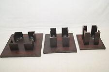 3* Metallkunst Kerzenständer Stafl handgearbeitet Peter Asendorf 1995 unbenutzt