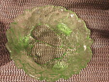 Green Depression Glass Avocado Pear Relish Dish Indiana Glass