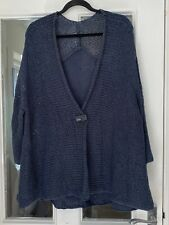 LOVELY M & S PETROL BLUE LOOSE KNIT CARDIGAN - SIZE 22/24!!