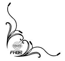 VOLVO FH13 Side Window Decals Stickers x 2