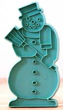 """SNOWMAN w. BROOM Blue Cutter STANLEY Home PRODUCTS Detailed IMPRESSION 5""""x 2.25"""