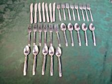 31pc Wm. A. Rogers/Oneida Decorative Handle Stainless Steel Flatware Set