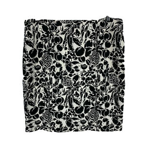 Peter Morrissey Womens Skirt Size 16 Black White Straight Abstract Zip Closure
