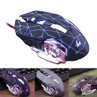 Free Wolf V5 Wired LED Light 4000 DPI Optical USB Ergonomic Gamer Gaming Mouse