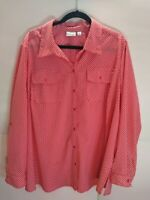 Kim rogers women's 3x red with white tunic dots Long sleeve