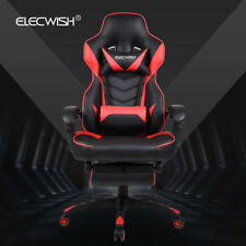 Ergonomic Computer Gaming Chair High Back Leather Desk Seat Recliner Swivel Red