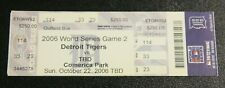 Detroit Tigers Ticket Stub | 2006 World Series Game 2