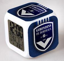 Réveil numerique Digital FC Girondins de Bordeaux à effet lumineux alarme
