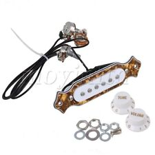 Prewired Single Coil Magnetic 6-string Acoustic Guitar Pickup Bronze Pearl Color