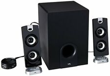 Cyber Acoustics Subwoofer Satellite System with 2 Satellite Speakers (CA-3602a)