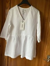 Farhi By Nicole Farhi Pure Linen Blouse Shirt Size 8 New Tags