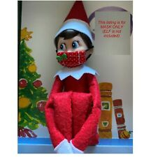 Mini handmade cute mask for your little Elf On The Shelf