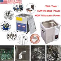 Stainless Steel 2L Digital Industrial Heated Ultrasonic Cleaner W. Tank Timer