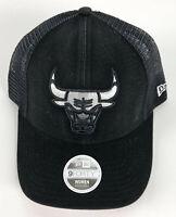 Chicago Bulls Baseball Snapback Hat New Era 9Forty Women - Black Trucker