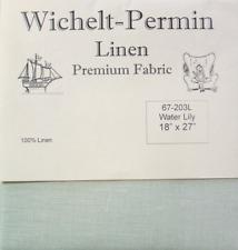 Wichelt Permin Premium Linen Fabric 32 Count Cross Stitch 18 X 27 Water Lily