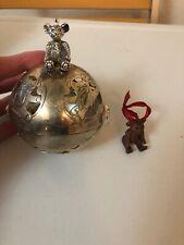 Lenox Smithsonian Kirk Stieff Teddy Bear Giving Ball Christmas Ornament