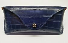 RALPH LAUREN GLASSES CASE - DEEP BLUE LEATHER - BRAND NEW & JUST £12.99 !