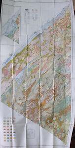 2 Sheet Color Soil Survey Map St. Lawrence County New York Canton Potsdam 1930