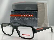 Prada Sport Square Eyeglasses VPS 01G Matte Dark Green Frame UB6-1O1 53mm NEW