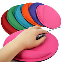 For Computer PC Laptop Round Wrist Rest Support Game Mouse Mice Pad Non-Slip