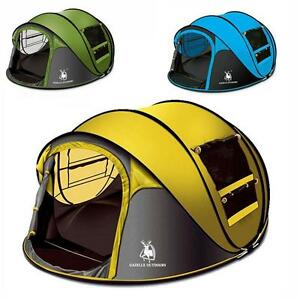 Camping Tent 3-6 Person Hiking Pop Up Waterproof Automatic Hydraulic Outdoor