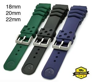18mm 20mm 22mm Rubber Vented Seiko Diver Watch Band Strap SKX007 SKX009 6309 Z22