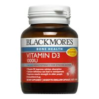 BLACKMORES VITAMIN D3 1000IU 60 CAPSULES HIGH POTENCY FOR STRONG BONES 1 A  DAY