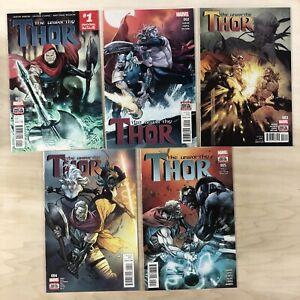 Unworthy Thor #1-5 (2016) VF/NM Complete Series Thanos Aaron Coipel Marvel