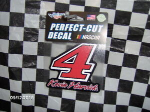 """# 4 Kevin Harvick (Red) ~ 3.25""""x 3.25"""" Perfect Cut Decal"""