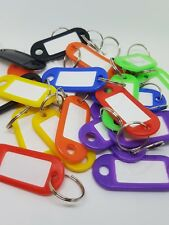 8x Key Ring ID Tags - Mixed Colours