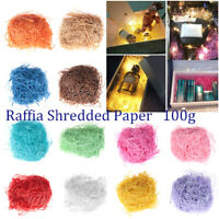 100g Colorful Raffia Shredded Fold Paper Confetti Box Filler Wrapping Supplies~