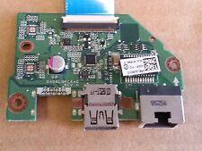 """Toshiba Satellite C55-C5241 15.6"""" USB Ethernet Port Board w/Cable DA0BLQPC6H0"""