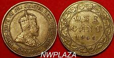 1906 CANADA ONE CENT LARGE PENNY BETTER GRADE UNC #VPN22A