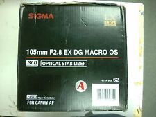 Sigma 105mm f/2.8 EX DG MACRO OS HSM LENS for Canon EF Mount