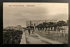 Mint Vintage Plaza Rodrigo Bastides Barranquilla Columbia Real Picture Postcard
