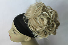 New Large Drawstring Synthetic Hairpiece Up do Bun Scrunchies clip in Curly