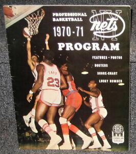 1970-71 NEW YORK NETS VS FLORIDIANS ABA PROGRAM