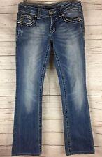 Miss Me Size 27 Denim Jeans Boot Cut JS52014B32 Low Rise Distressed 29x31