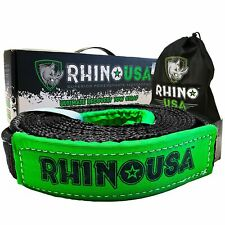 Rhino USA Recovery Tow Strap 2in x 20ft - Lab Tested 20,024lb Break Strength ...