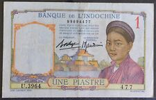 French Indochina One Piastre 1936 vf+