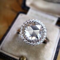 925 Silver Round Moissanite Ring Wedding Engagement Jewelry Wholesale Sz 6-10