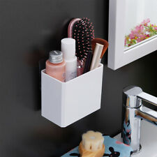 No Drill Floating Shelf Wall Mounted Plastic Storage Organizer Bin For Bathroom
